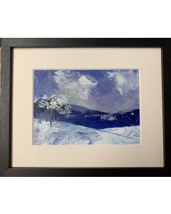 More snow this morning - framed original oil painting