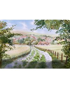 VIEW OF AN ENGLISH VILLAGE