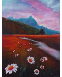Daisies in the Landscape