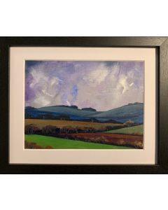 And the wind breathes low - framed original oil painting