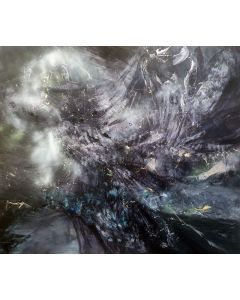 Gigantic Size XXL Painting Between The Light And Creation By O KLOSKA