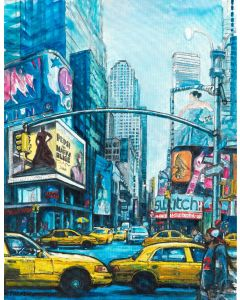 NEW YORK ON THE BROADWAY (Giclee Print)