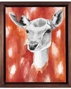 DREAMY FALLOW DEER PAINTING ON CANVAS