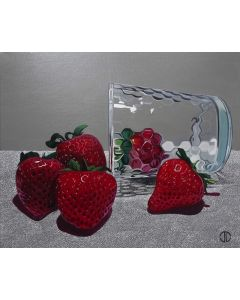 Still Life Glass And Strawberries