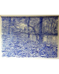 By The River in Blue Lace Wall Hanging