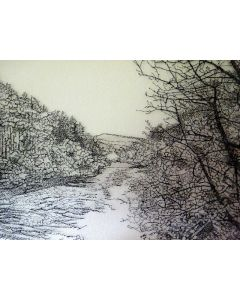 The River Sketch Tapestry
