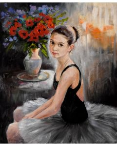 Small ballerina with red poppies