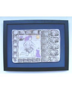 Odysseus Returns to Ithaca - (Framed Ceramic Panel)