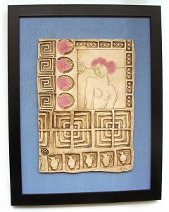 Circe Beckons - (Beware she turns men into animals!) - (Framed Ceramic Panel)