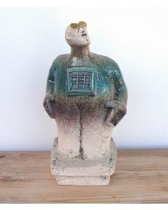 Stargazer Figure - Ceramic Sculpture - Juniper Green (2)