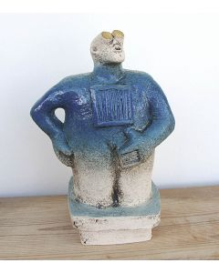 Stargazer Figure - Ceramic Sculpture - Midnight Blue (2)