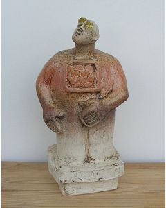Stargazer Figure - Ceramic Sculpture - Peach colour (1)