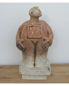 Stargazer Figure - Ceramic Sculpture - Peach colour (2)