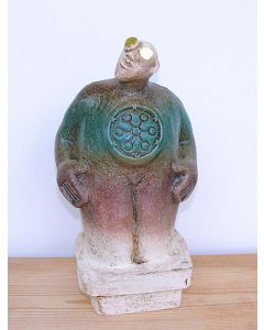 Stargazer Figure - Ceramic Sculpture - Turquoise Green (1)