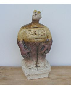Stargazer Figure - Ceramic Sculpture - Straw colour (1)