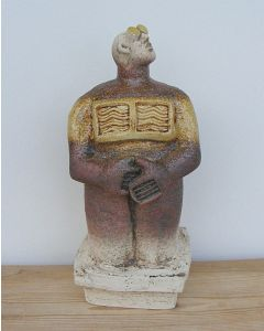 Stargazer Figure - Ceramic Sculpture - Straw colour (2)