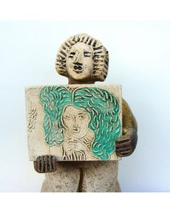 Artist - This is Ceres Demeter the Goddess of Agriculture and Seasons - Ceramic Sculpture