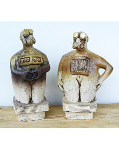 The Dancer and The Poet – Ceramic Sculptures - PAIR
