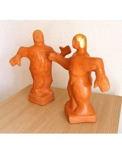 Olympians PAIR - (Burnished Terracotta) - Ceramic Sculptures