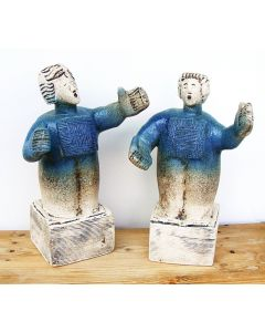 Opera Singers from Gounod's Faust, Duet between Faust and Marguerite - Ceramic Sculpture