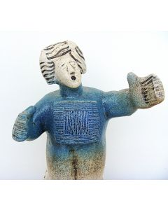 """Opera Singer from Gounod's Faust. - Faust, """"A toi, fantome adorable""""- Ceramic Sculpture"""