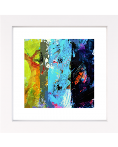 Connections 1 framed abstract painting