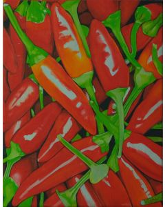 Fiery red peppers