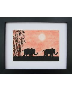 Elephants (Framed)