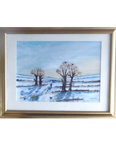 Cronk-y Voddy in the snow (FRAMED)