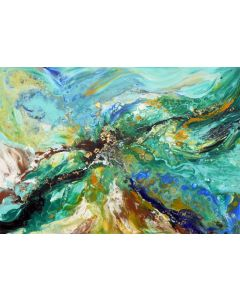 Large abstract painting art
