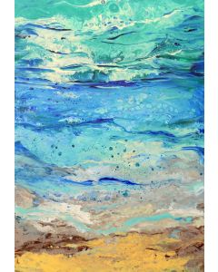 Greek Summer, large abstract seascape