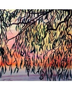 Sunset and Willow Treee