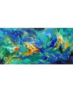 Greek Summer - large modern abstract painting art