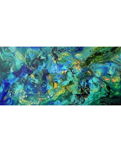 Summer night - large modern abstract painting art