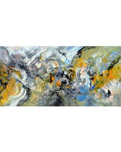 Imagination large abstract painting