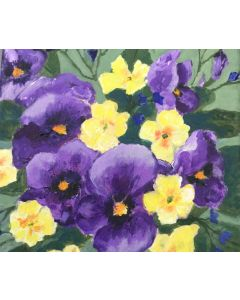 Pansy and primrose posy