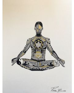 Yoga - FRAMED MEDIUM- Meditate - Male