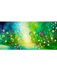 Floral Painting on Canvas, Original Art, Flowers Painting, Field Painting, Modern Art, Daisy flowers Living Room Wall Art
