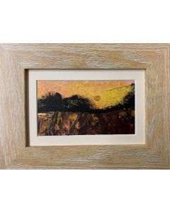 Golden Moon - Autumn Breeze  - original oil painting within a frame
