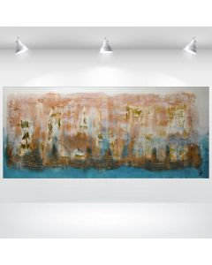 Eiszeit - Abstract Painting on Canvas, Oversized Canvas Wall Art