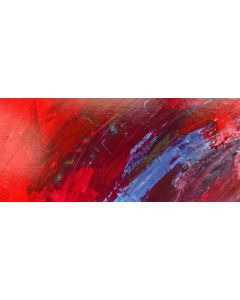 RIVER DEEP BLUE. Original Abstract Landscape Acrylic Painting. Varnished.