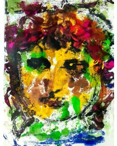 The Face I - Portrait of a woman - One of a kind Mono Type on paper