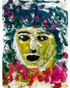 Portrait of a woman - The Face VIII - One of a kind Mono Type Print