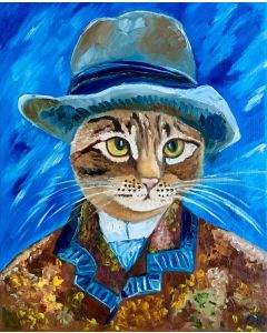 Troy is a serious cat inspired by Vincent Van Gogh portrait