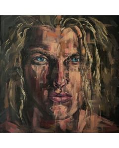 Young man gay oil painting handsome male portrait