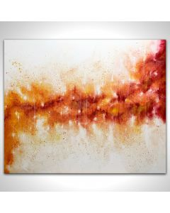 XL Large Flaming Abstract 100 x 120