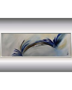 Flying Dreams - abstract acrylic painting, canvas wall art, framed modern art