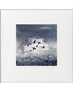 Monochrome - Ducks in Formation, Marshes