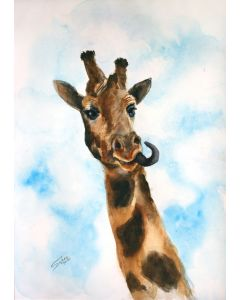 GIRAFFE I - ANIMAL PORTRAIT