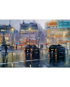 Piccadilly rain, London